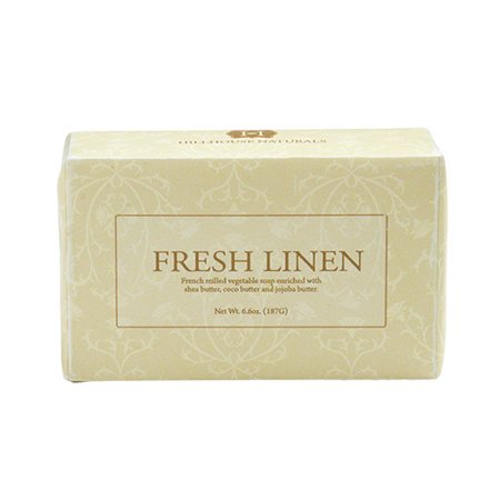 Hillhouse Naturals French Milled Soap 6.6 Oz. - Fresh Linen Natural French Milled Soap