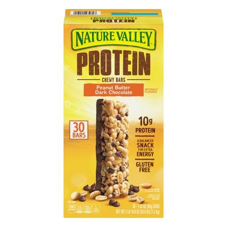 Nature Valley Peanut Butter Dark Chocolate Protein Chewy Bars, 42.6 (Nature Valley Peanut Butter Dark Chocolate Protein Bars)