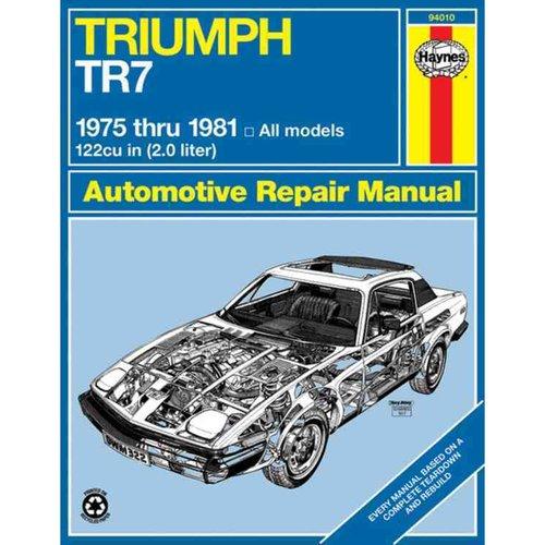 Haynes Triumph Tr7 Manual, No. 322: '75-'81