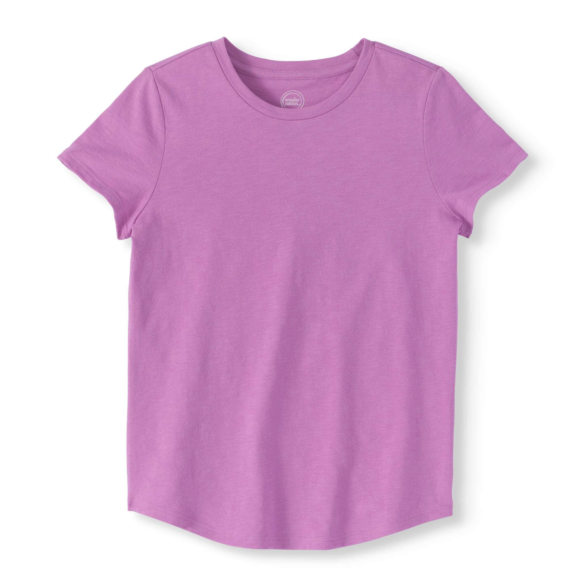 Girls' Crew Neck Short-Sleeve T-Shirt