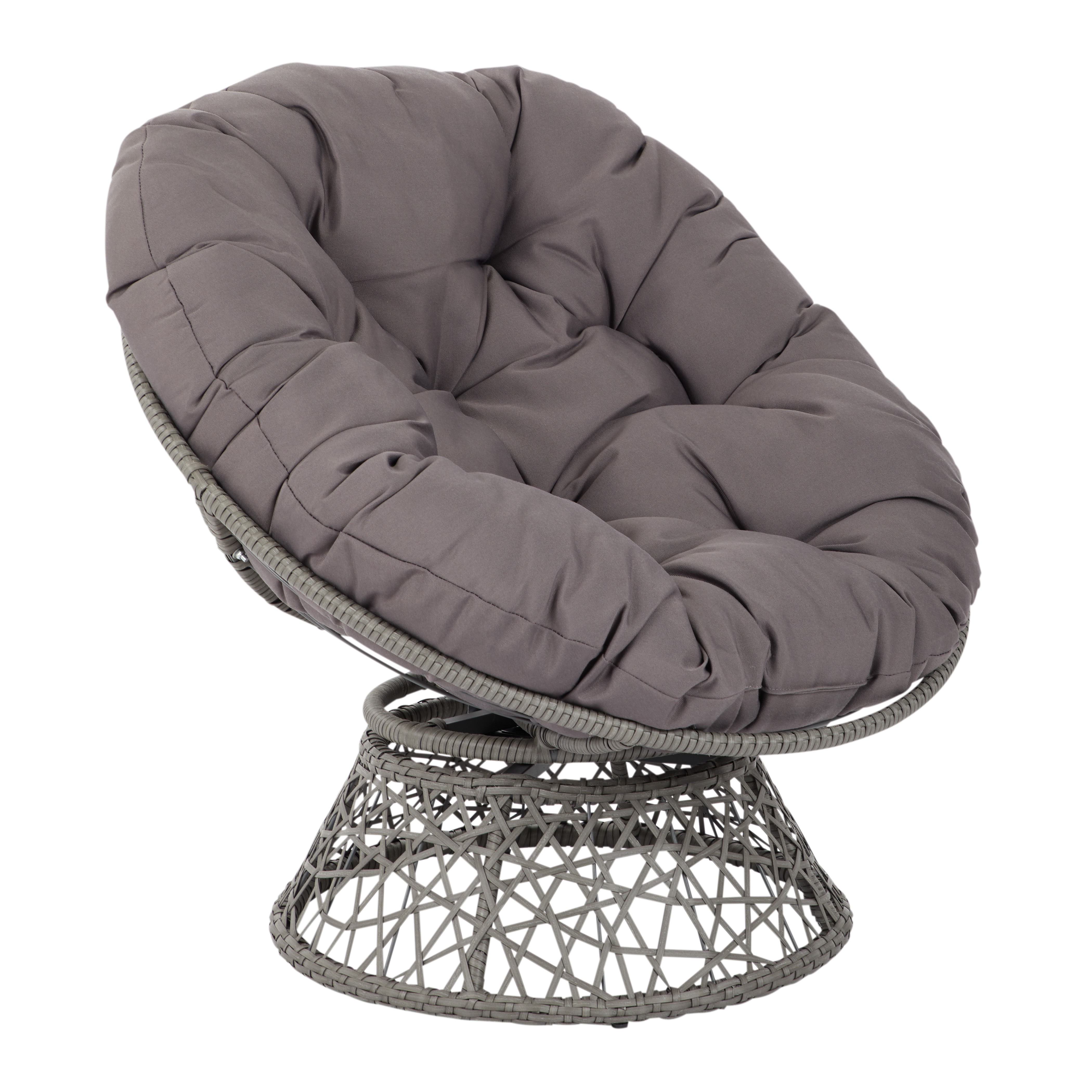 Papasan Chair with Grey cushion and Grey Frame