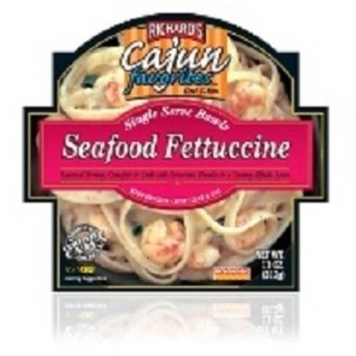 Richard's Cajun Favorites New Single Serve Bowls Seafood Fettuccine, 11 oz