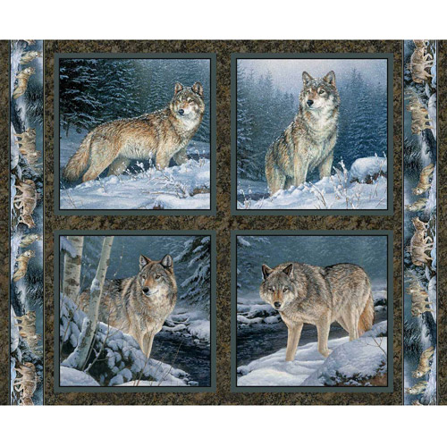 Wild Wings Contemplation Pillow Panel Fabric By The Yard