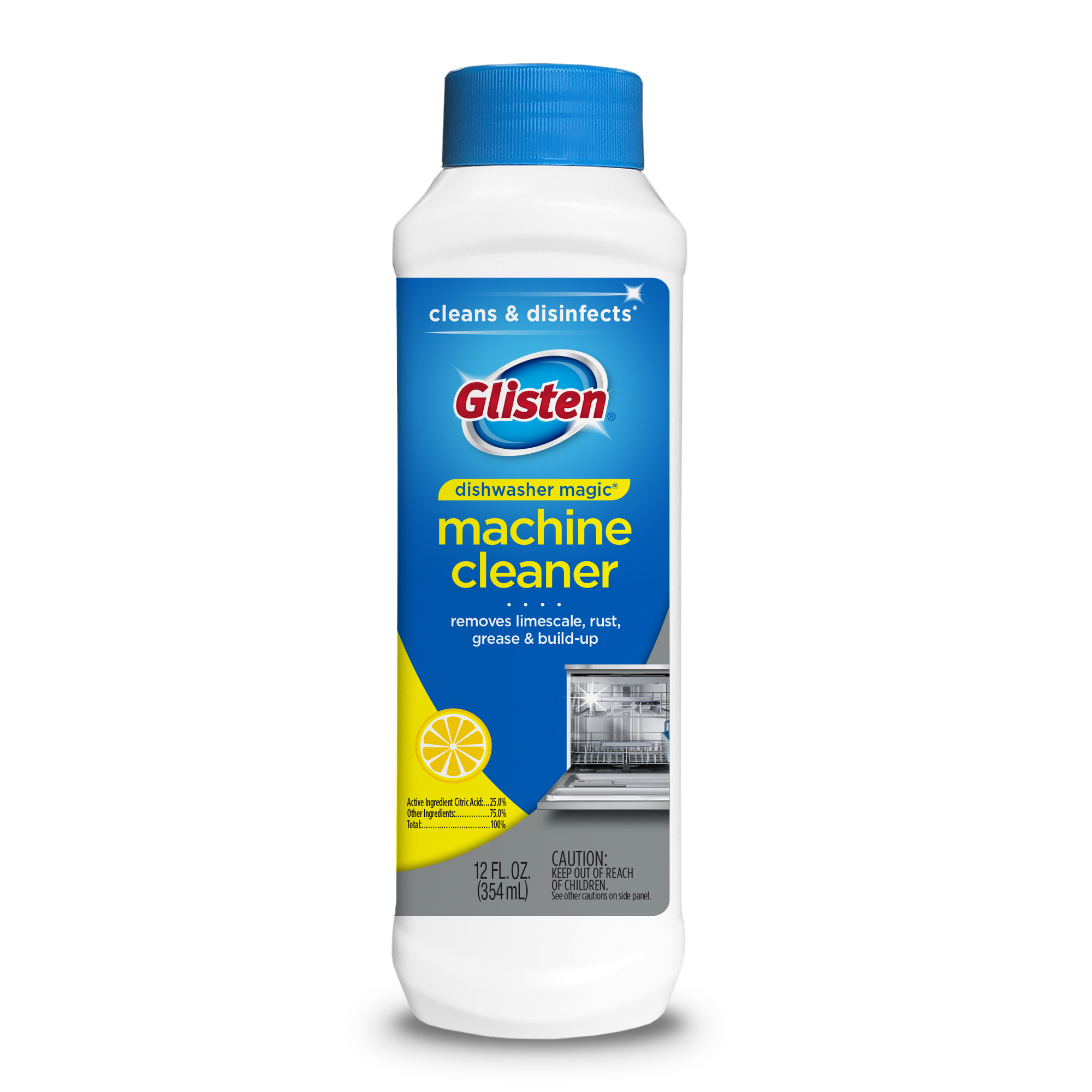 Dishwasher Magic Dishwasher Cleaner and Disinfectant, 12 Fl Oz
