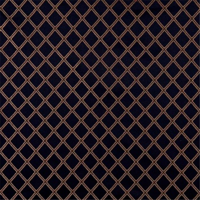 Designer Fabrics E608 54 inch Wide Diamond Navy Blue, Yellow And Green Damask Upholstery And Window Treatment Fabric