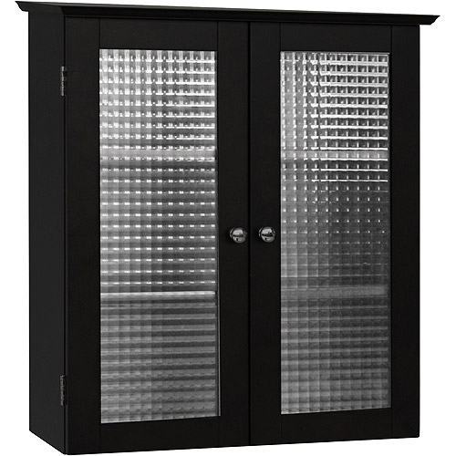 Torino Wall Cabinet with Double Glass Doors, Espresso