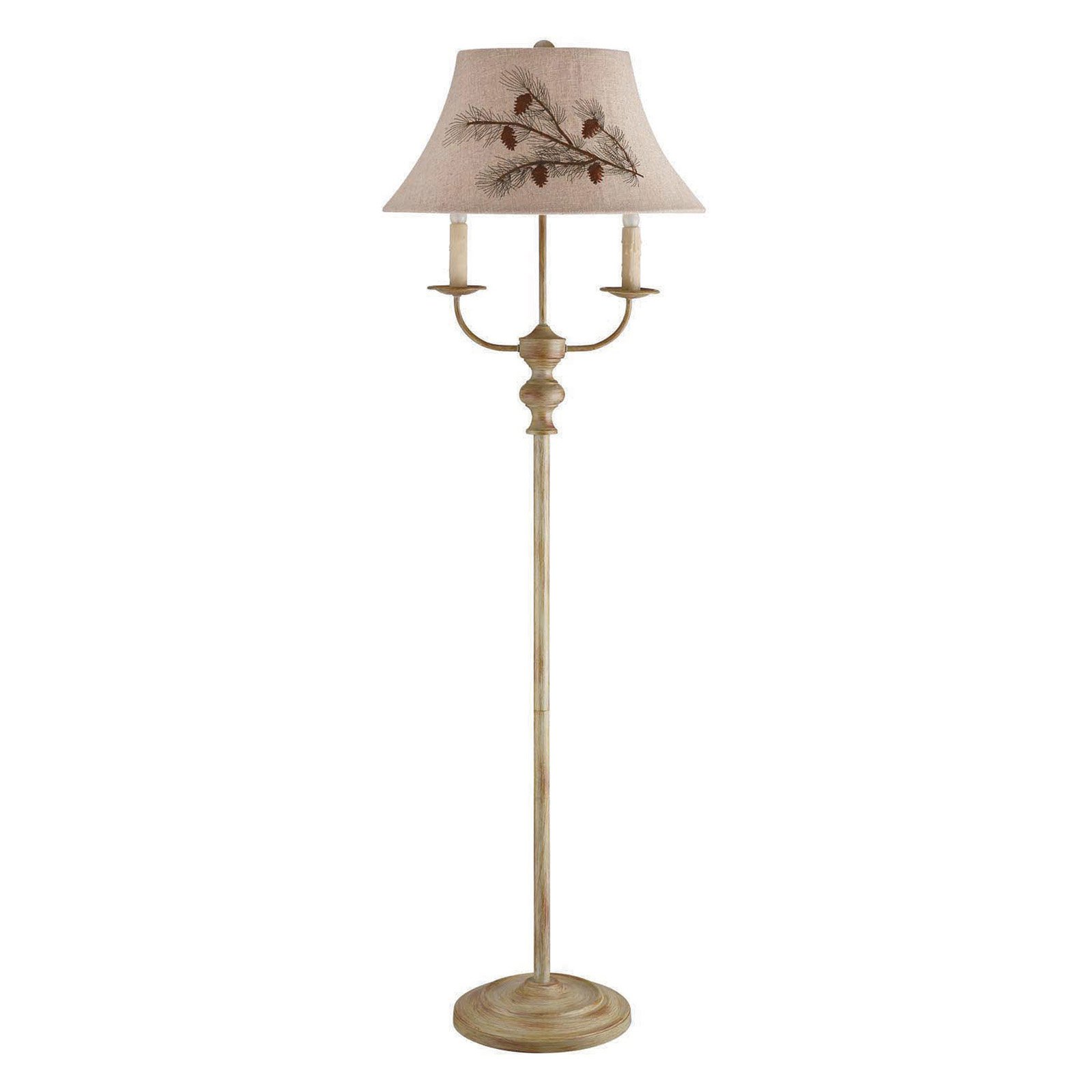 Image of A Homestead Shoppe Bayfield Floor Lamp - Pinecone Shade