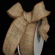 "Natural Brown Burlap Wired Craft Ribbon 2"" x 40 Yards"