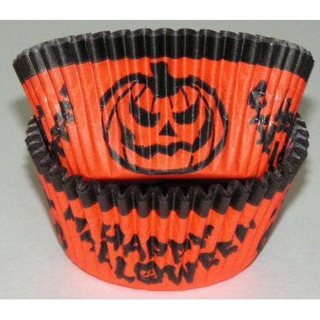 Halloween Pumpkin Cupcake Liners - Baking Cups - Giant Cupcake Decorating Ideas For Halloween