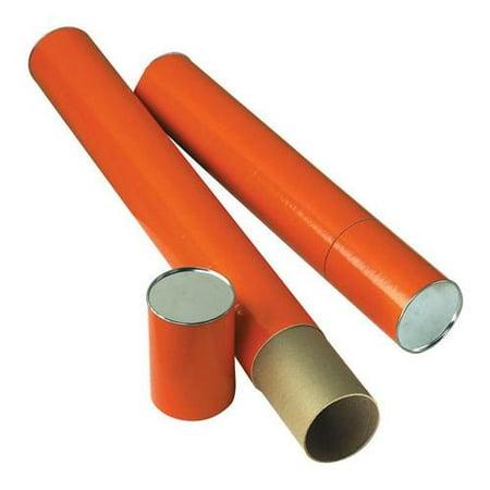 37 25 Quot  Jute Fiberboard Mailing Tube  Orange Paper Wrap  4 Quot  Diameter