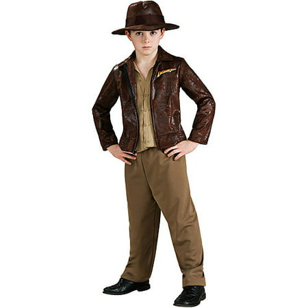 Indiana Jones with Jacket Deluxe Child Halloween Costume (Greaser Jacket Costume)