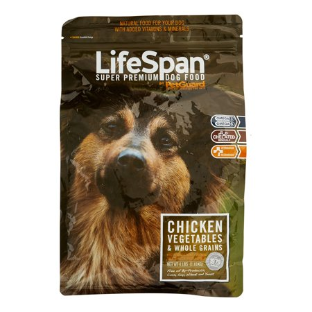 PetGuard LifeSpan Chicken, Vegetables & Whole Grains Dry Dog Food, 4