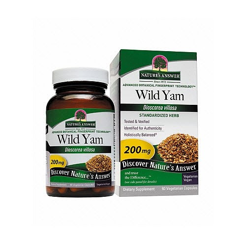 Nature's Answer Wild Yam Root Extract -- 60 Vegetarian Capsules