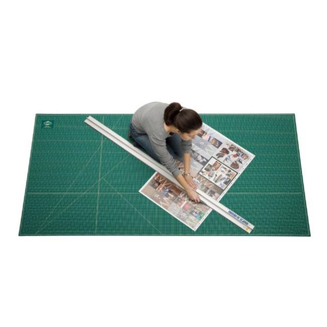 "Alvin 24/"" x 36/"" Green//Black Professional Self-Healing Cutting Mat"
