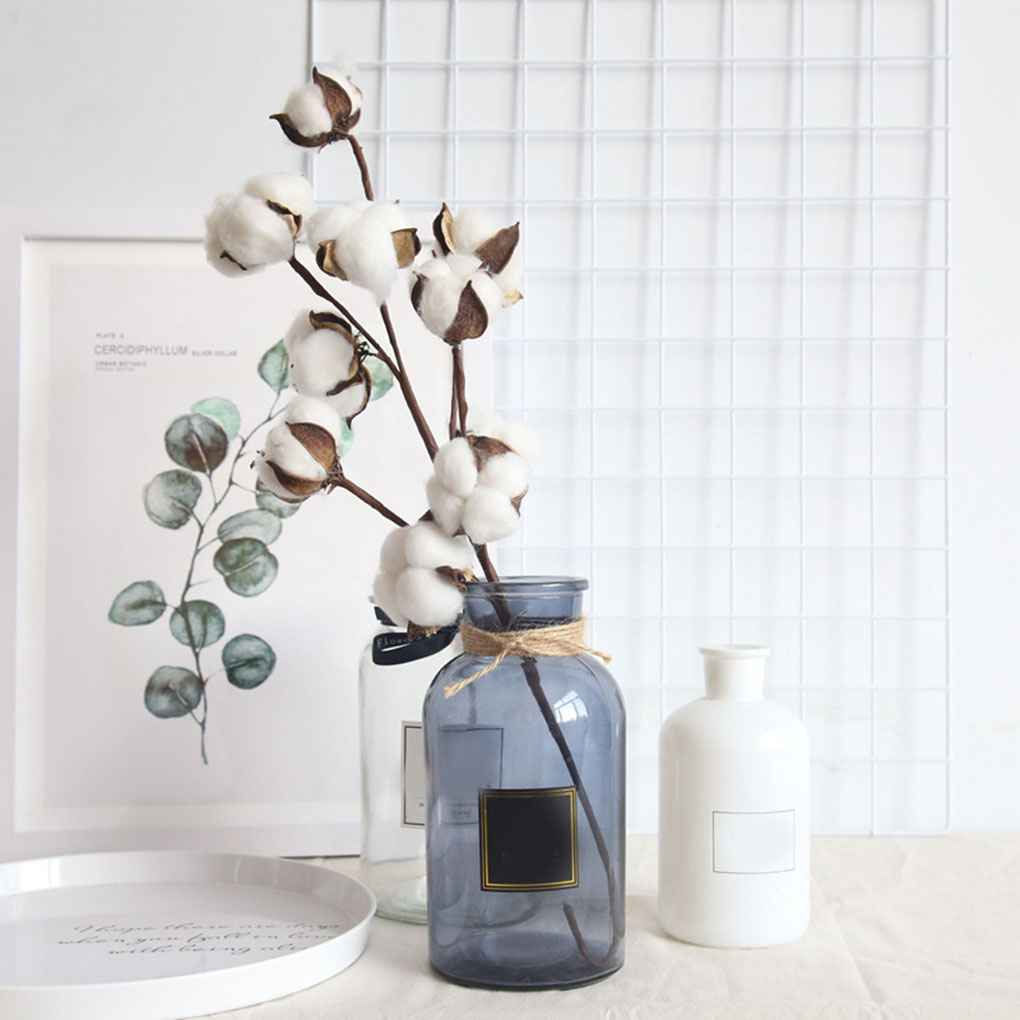 Cotton Flower Natural Plant Dried Bouquet Room Wedding Party Decor Home DIY Gift