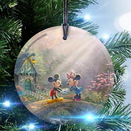 Trend Setters Disney (Mickey and Minnie Sweetheart Bridge) Hanging Shaped Ornament - Heart Shaped Ornaments