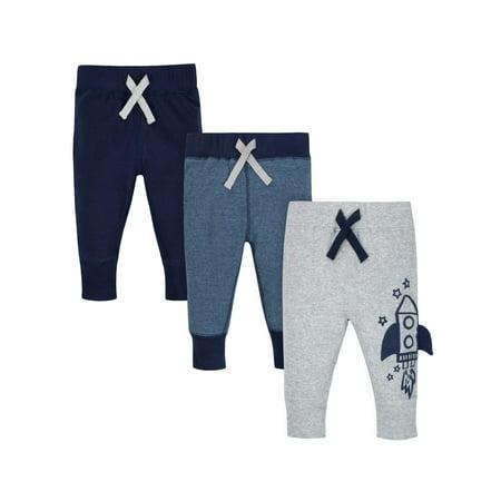 Organic Cotton Rib Active Pants, 3pk (Baby Boys)