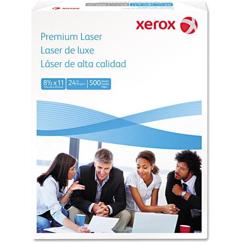 Xerox Premium Laser Paper, 98 Brightness, 24lb, 8-1/2 x 11, White, 500 Sheets/Ream
