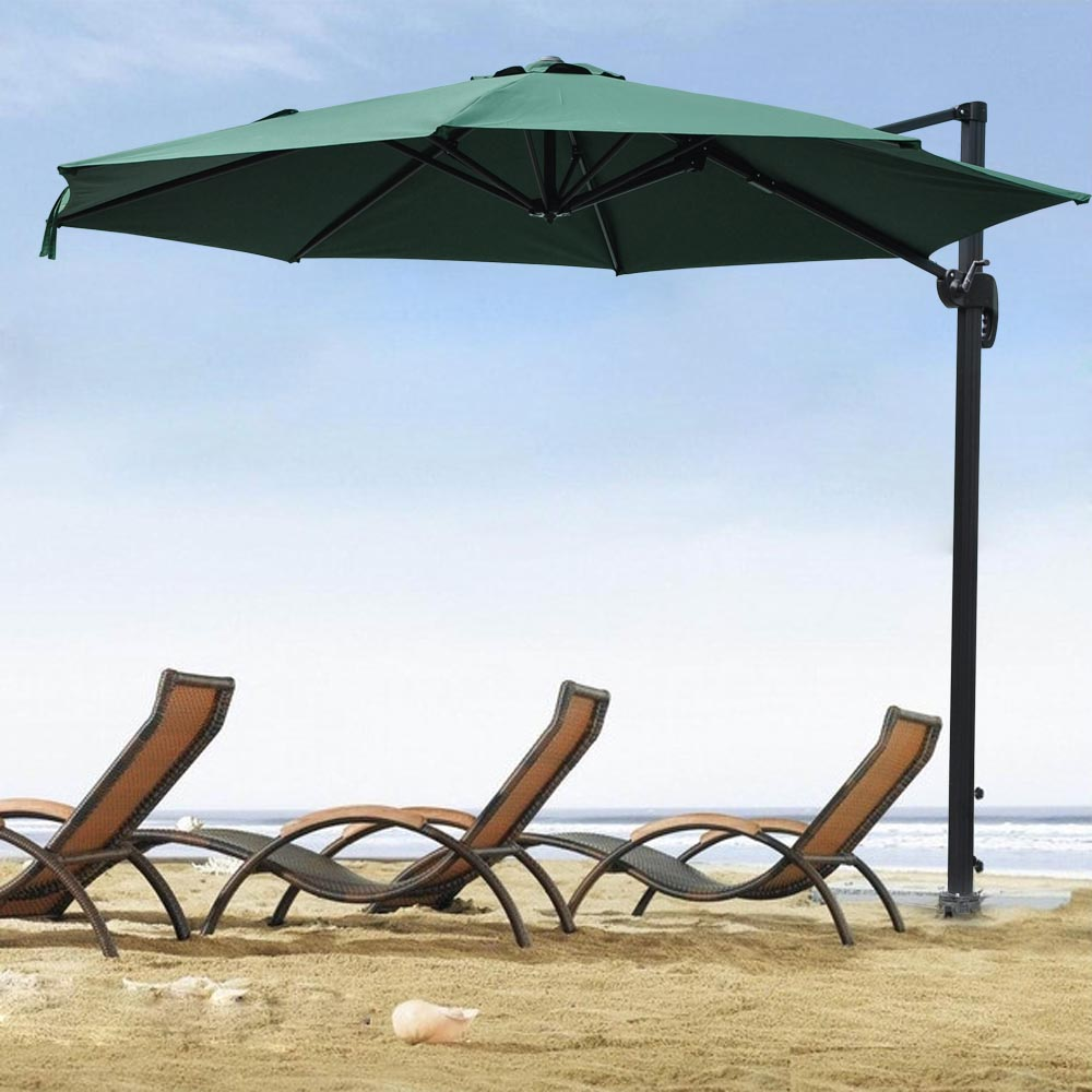 yescom 10ft hanging offset roma outdoor patio umbrella uv30+ 200g w 10 Ft Umbrella Base