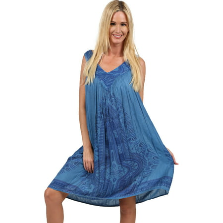 Ingear Women's V Neck Printed Tie Dye Summer Dress Cover - Cat Woman Dress Up