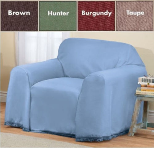 Solid Color Furniture Throw Covers Chair Brown Walmart Com