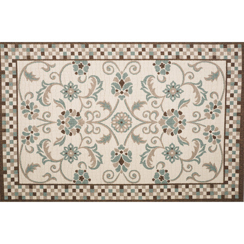 Home Loft Concepts Roxanne Candiss Brown/Blue Area Rug