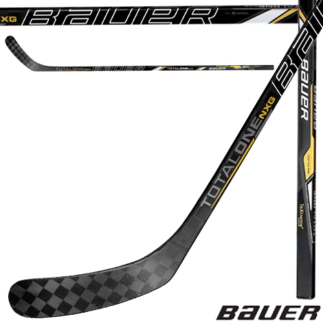 New Bauer Supreme TotalOne NXG LEFT Handed Junior Hockey Stick PM9 Non-Grip 52 by Bauer