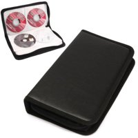 Mancro CD Case, 80 Capacity DVD Case CD Wallets Storage Organizer Flexible PU Protective DVD Storage
