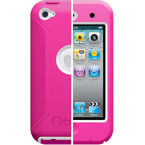 OtterBox Defender Series for iPod Touch 4, White Plastic/Hot Pink Silicone