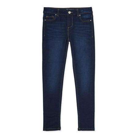 Wonder Nation Girls Kid Tough Super Skinny Jeans, Sizes 4-18 & Plus
