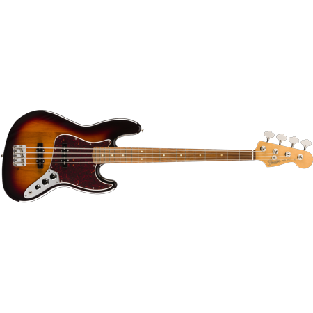 Fender Vintera '60s Jazz Bass?, Pau Ferro Fingerboard, 3 tone Sunburst - MIM Brass Sunburst Sunburst Collection