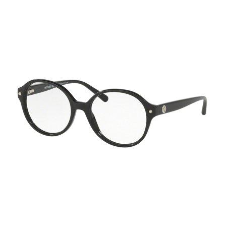 - Michael Kors 0MK4041 Full Rim Round Womens Eyeglasses - Size 51 (Black)