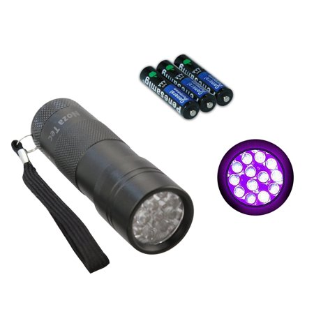 Dog/Cat Pet Urine Stains Detector 12 LED Ultra Violet Flashlight AAA
