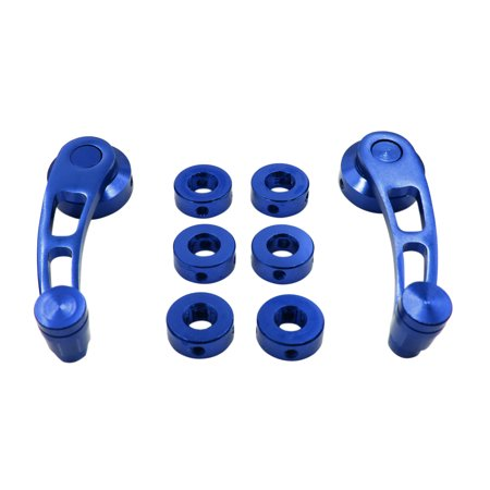 2pcs Blue Universal Aluminum Alloy Car Auto Door Window Handle Cranks Winders - image 5 of 5