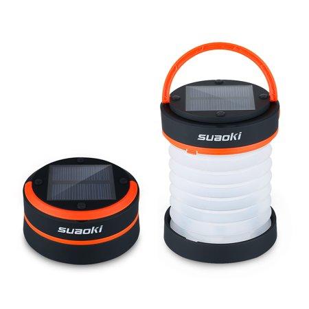 Suaoki solar panel camping LED lantern,Orange ()