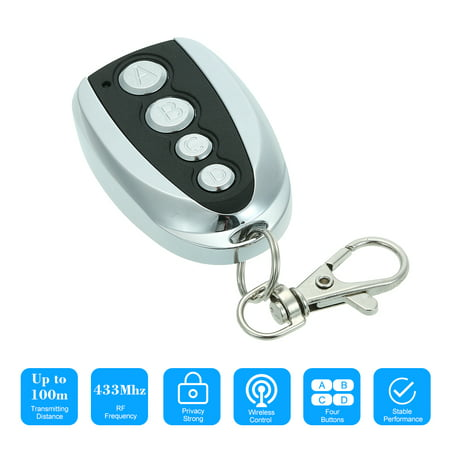 433MHz 4 Buttons Touch Switch Copying Transmitter Cloning Duplicator Garage Opener Electric Garage Door Remote Control Key Fob