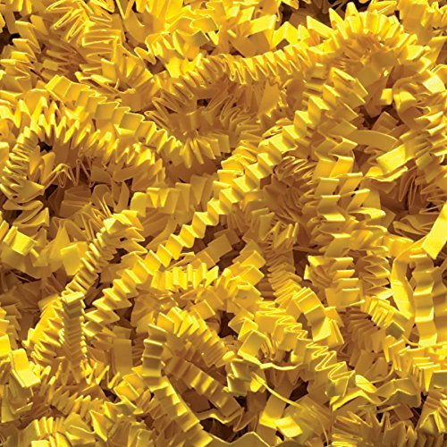 Yellow 2 Pound Crinkle Cut Paper Shred