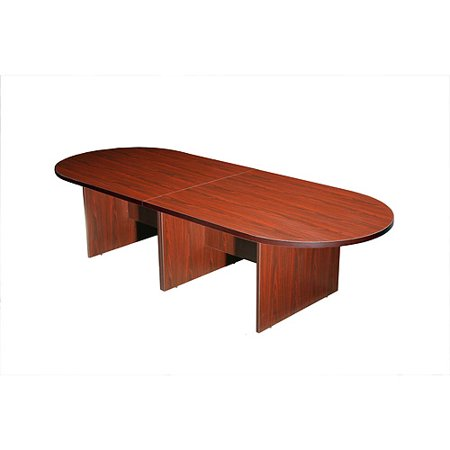 Boss Office Products 10Ft Race Track Conference Table, Mahogany