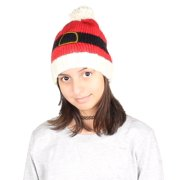 Gilbin Christmas Holiday Fashion Winter Knitted Reindeer, Snow man, Penguin And Christmas Tree Beanie Hat Belt