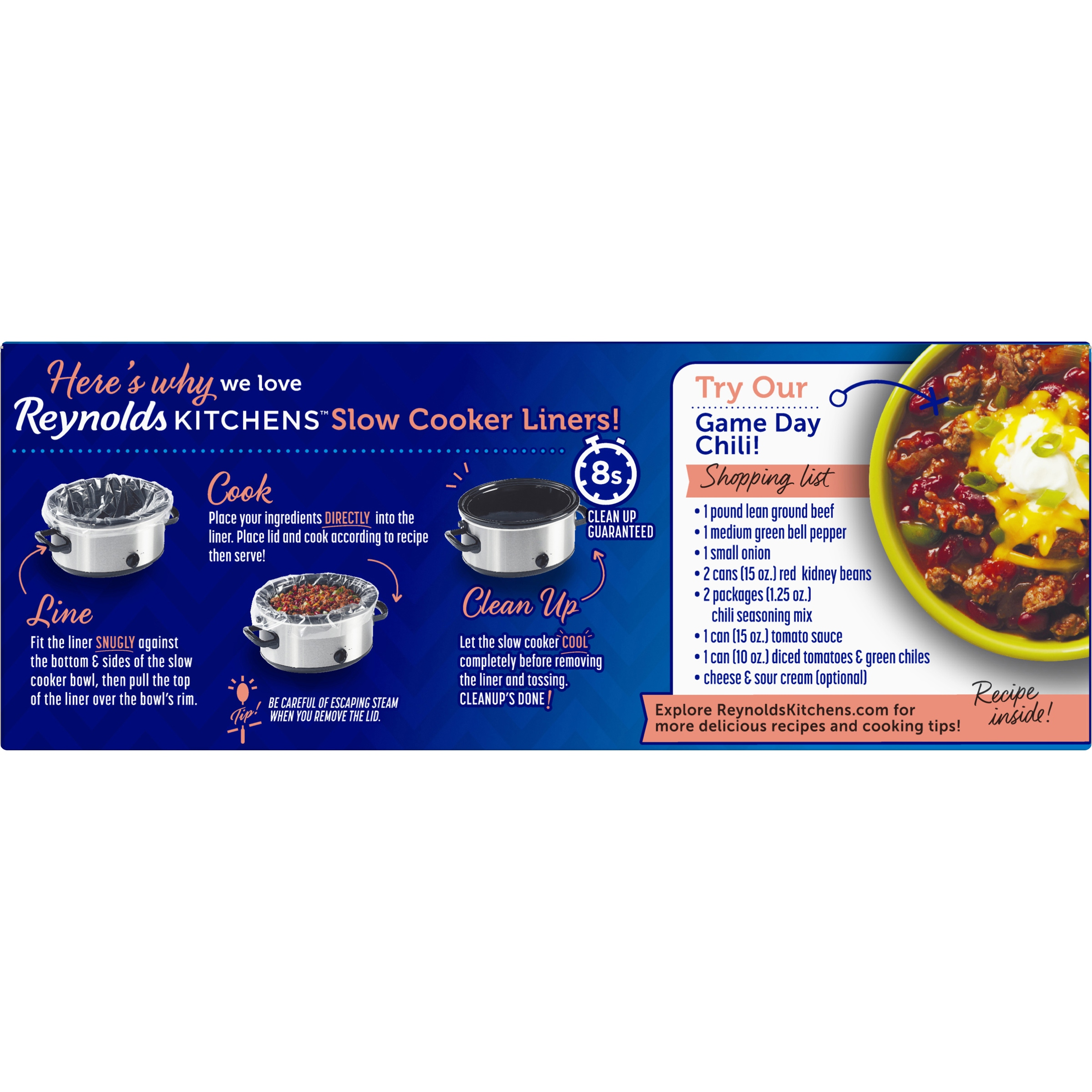 Reynolds Kitchens™ Slow Cooker Liners 8 Ct Box   Walmart.com