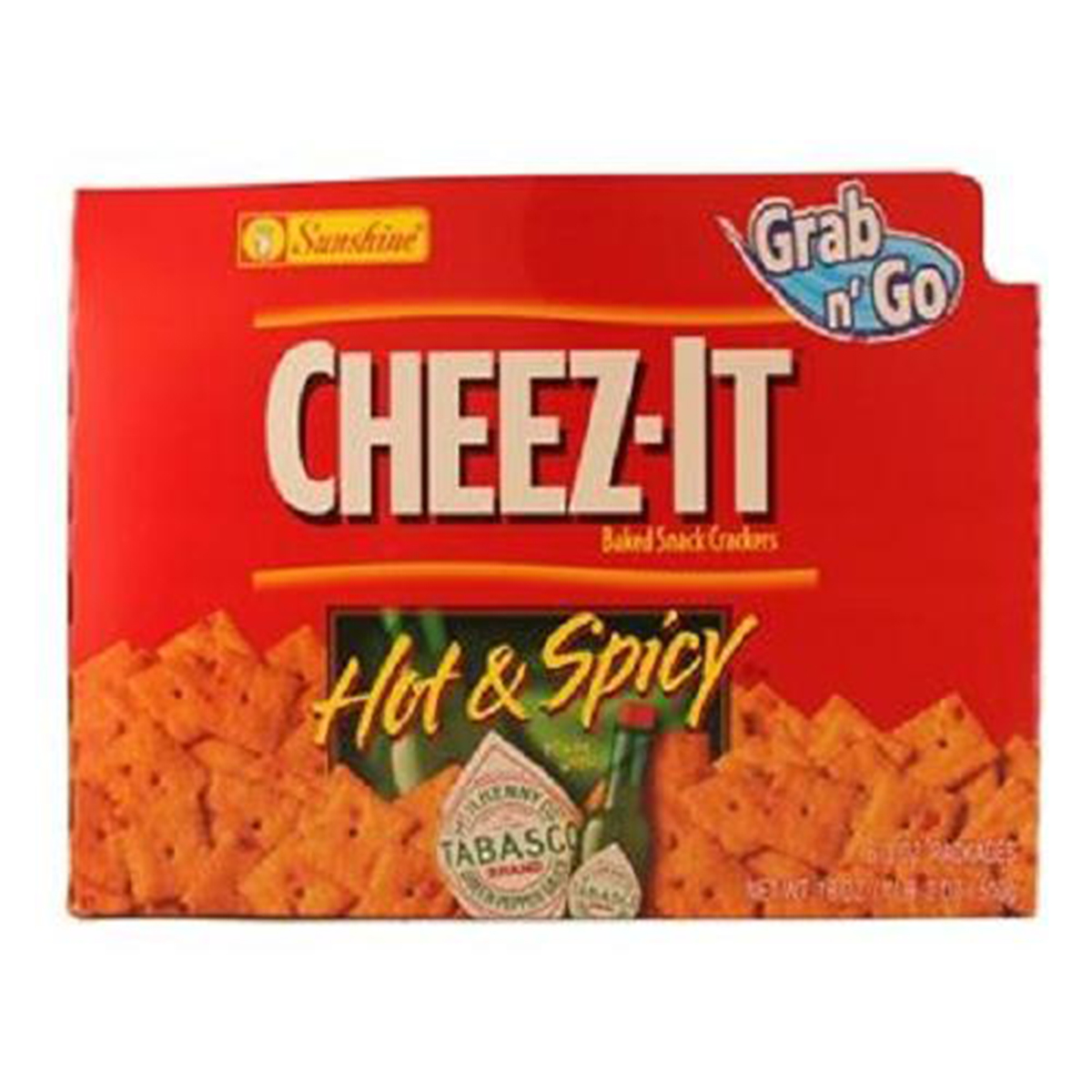 Product Of Cheez-It, Grab N Go Hot & Spicy Crackers, Count 6 (3 oz) - Cookie & Cracker / Grab Varieties & Flavors