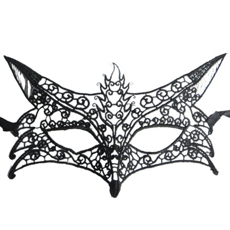 Coxeer Fox Shape Hollow Out Lace Halloween Evening Party Prom Masquerade - Halloween Lace Mask