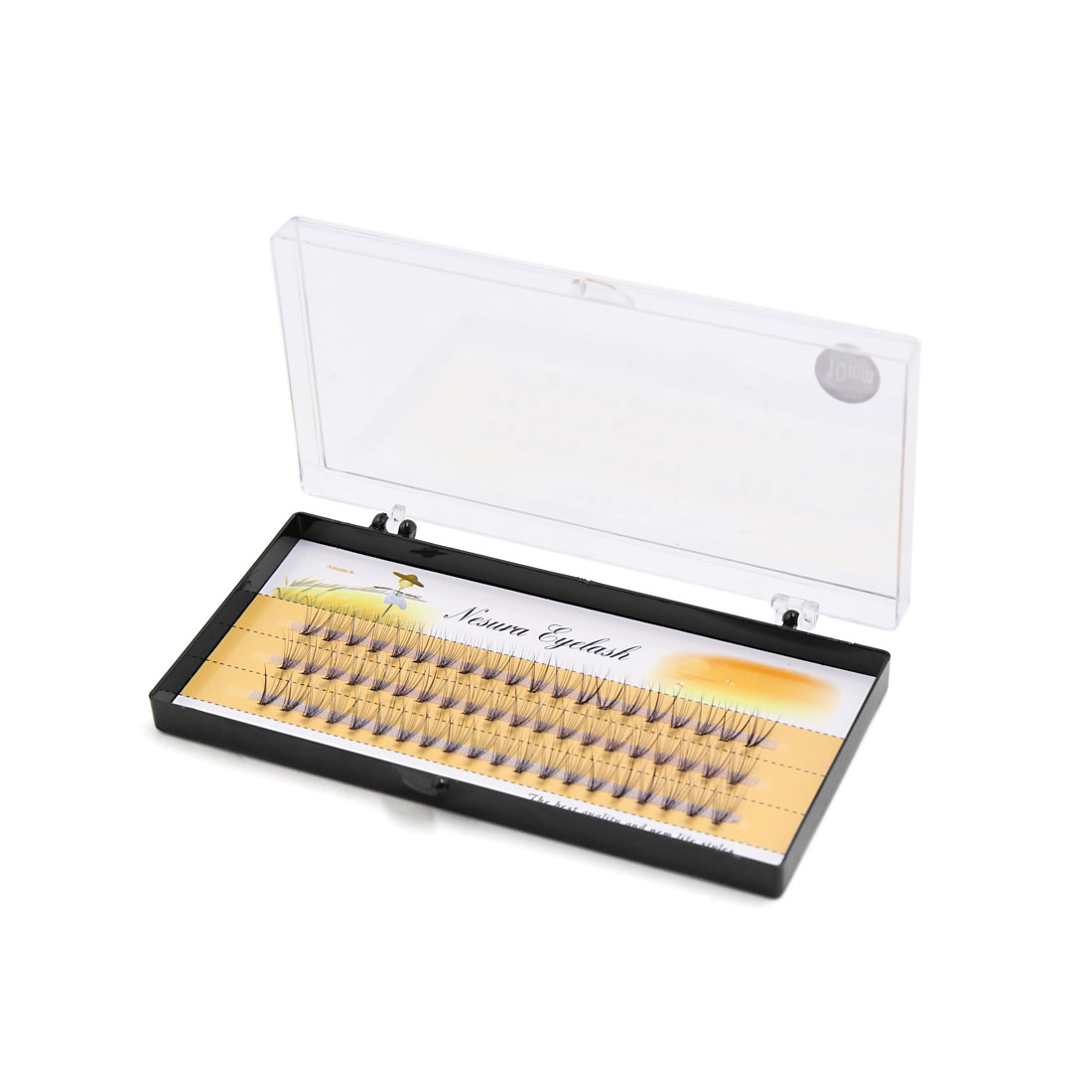 60 Pcs 10mm Length Cosmetic Curl Individual Cluster False Eyelashes Extension