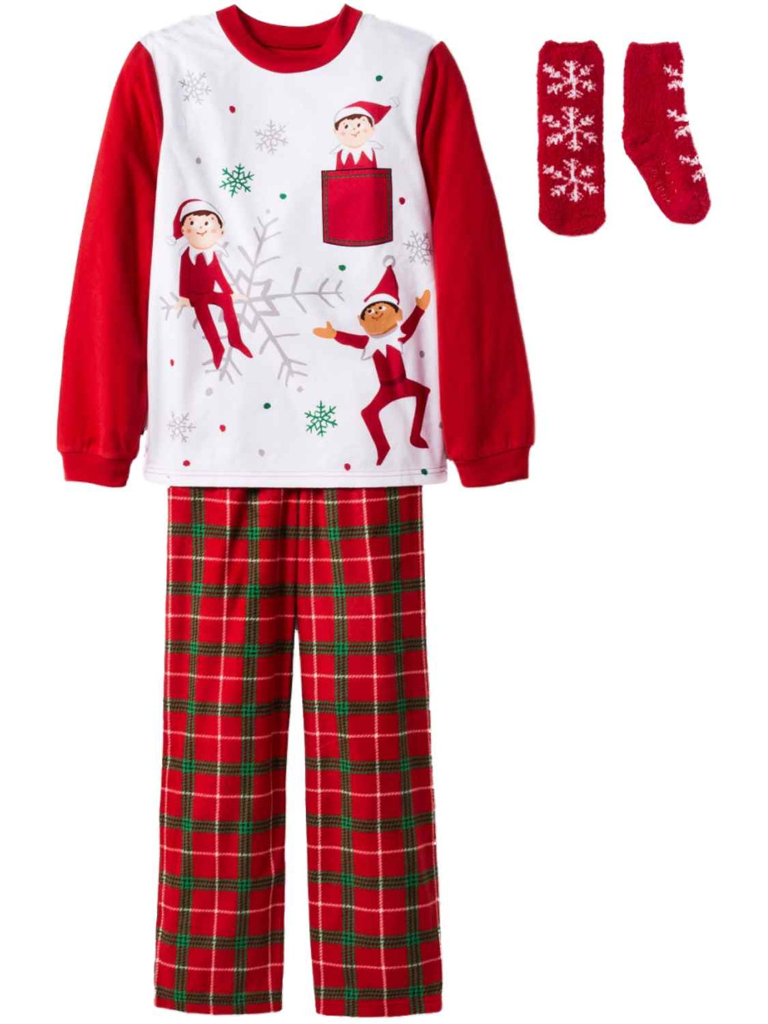 The Elf On The Shelf Polka-Dot Christmas Pajama Pj Set Girl Clothes Size 3t