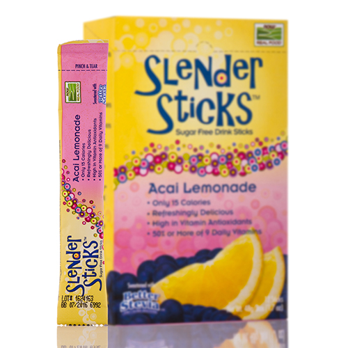 NOW Real Food - Acai Lemonade Sugar Free Drink Sticks - Box of 12 Packets by NO