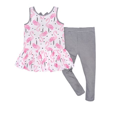 Summer Legging Outfits (Sleeveless Tunic with Bow and Leggings, 2pc Outfit Set (Toddler)