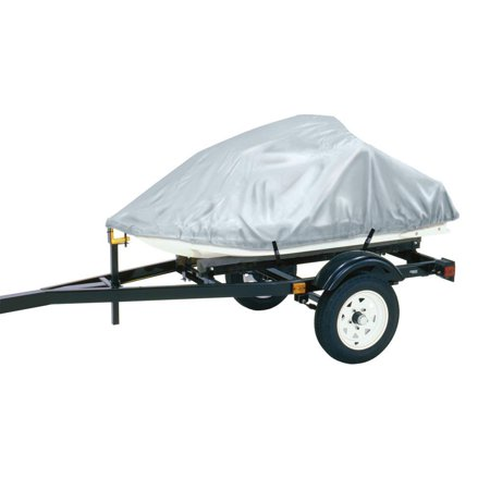 """Dallas Manufacturing Co. Polyester Personal Watercraft Cover A, Fits 2 Seater Model Up To 113""""L x 48""""W x 42""""H - Silver - image 1 de 1"""