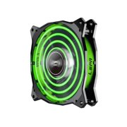 LPCPA12P-G-LEPA 12CM GREEN LED FAN UNIQUE-QUAD-RING LED PATTERN-LEPATEK CORPORATION