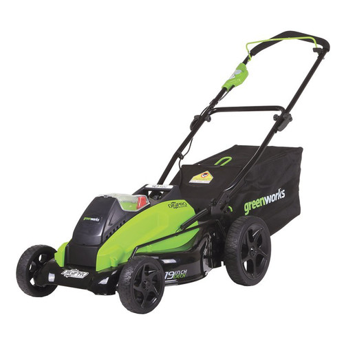 Greenworks 19-Inch 40V Cordless Lawn Mower, 4.0 AH & 2.0 AH Batteries Included 2500502 by Sunrise Global Marketing