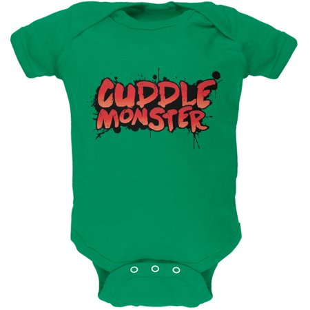 Cuddle Monster Kelly Green Soft Baby One Piece - Cuddle Monster